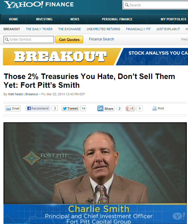 Charlie Smith on Yahoo! Finance