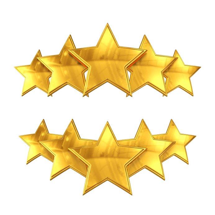 2 sets of 5 stars