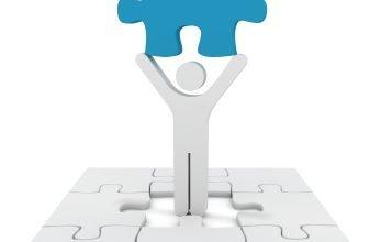 stick figure with puzzle piece