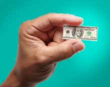 small dollar bill