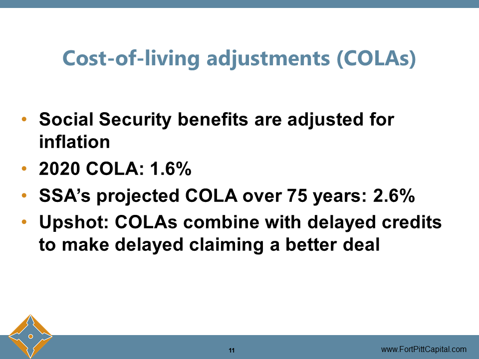 Cost of Living Adjustements