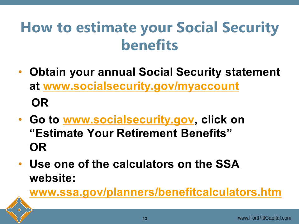 How to Estimate Your Social Security Benefits