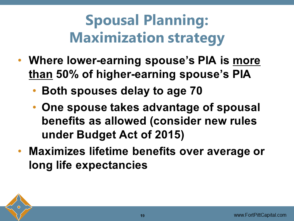 Spousal Planning Maximization Strategy
