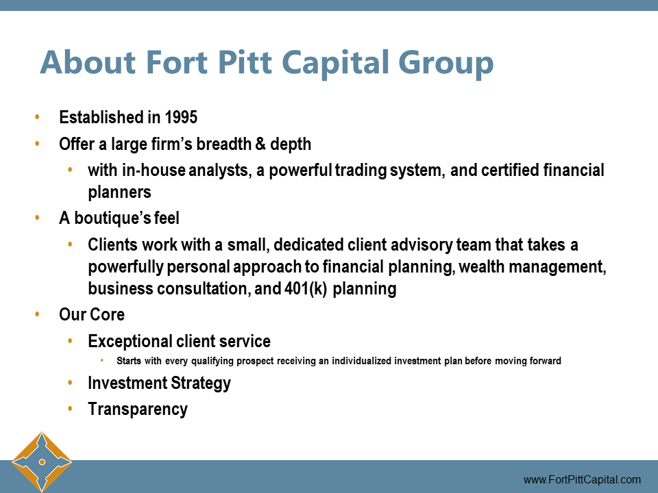 About Fort Pitt Capital Group