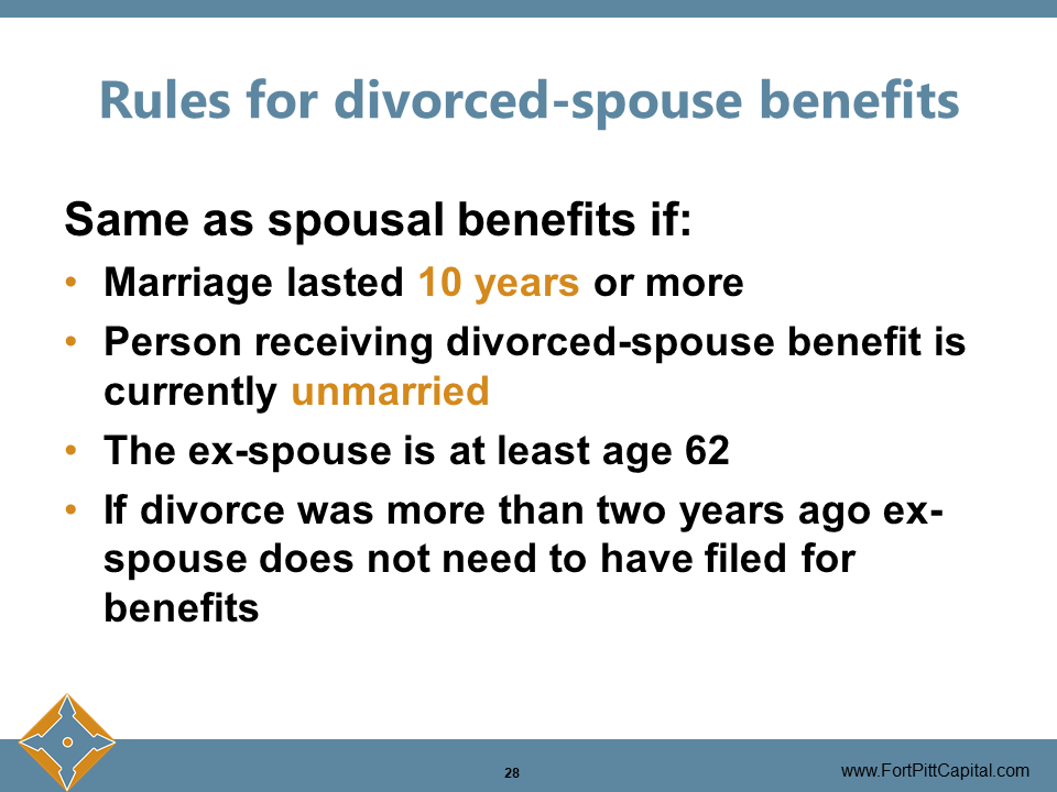 Rules for Divorced-Spouse Benefits