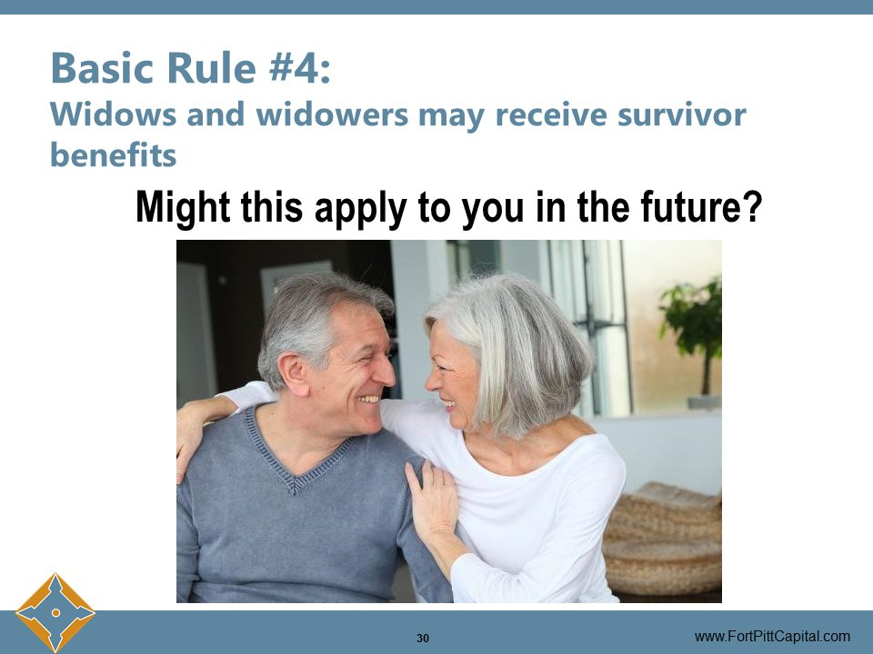 Widow And Widowers May Receive Survivor Benefits