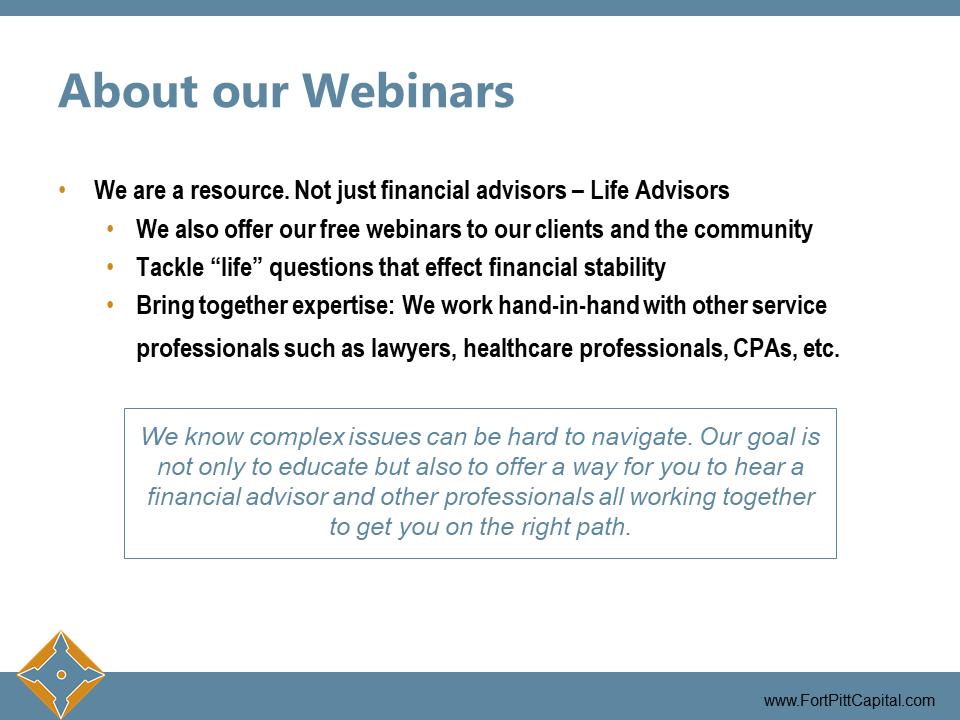 About Our Webinars