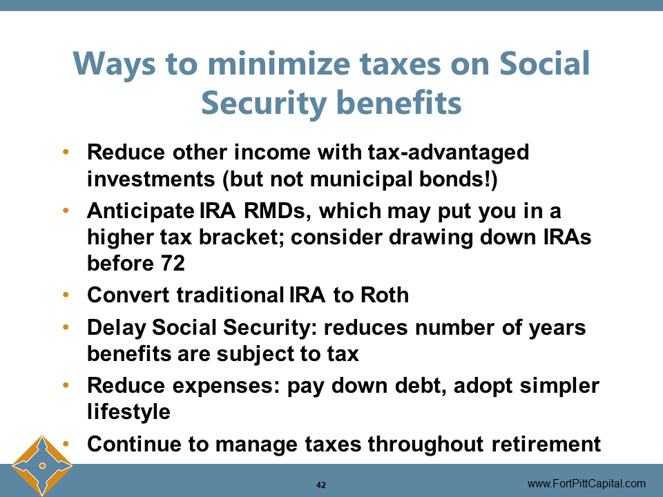 Ways to Minimize Taxes on Social Security Benefits