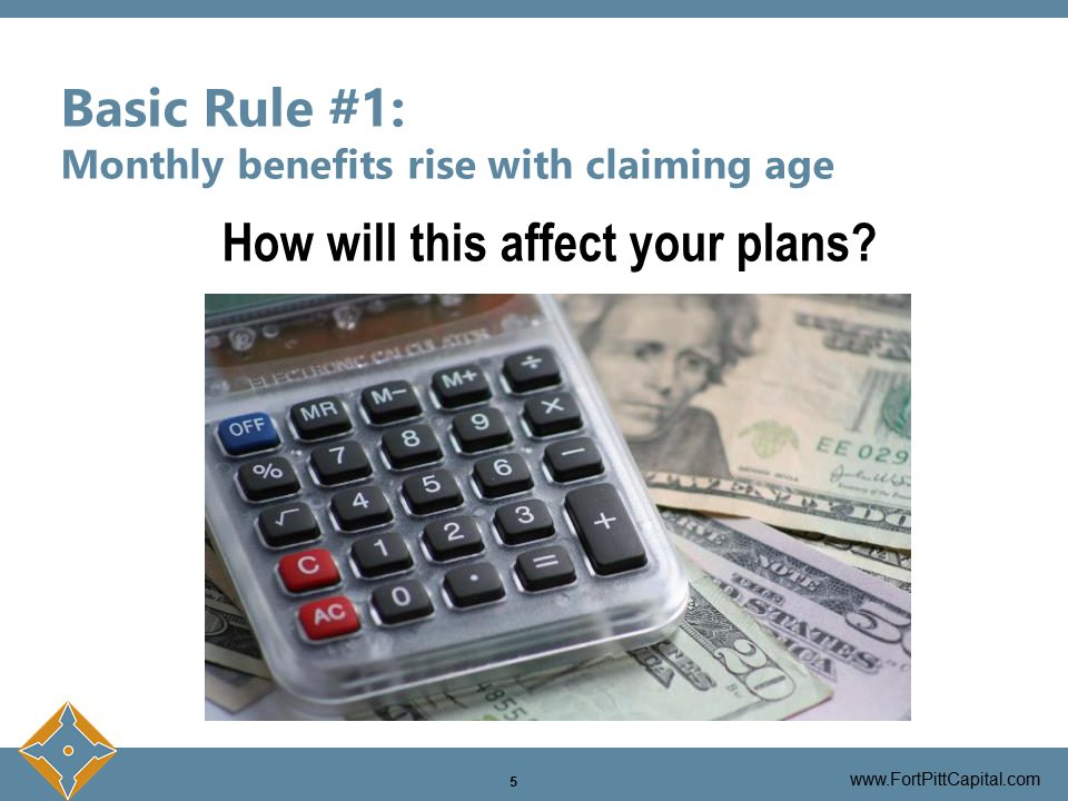 Monthly Benefits Rise With Claiming Age